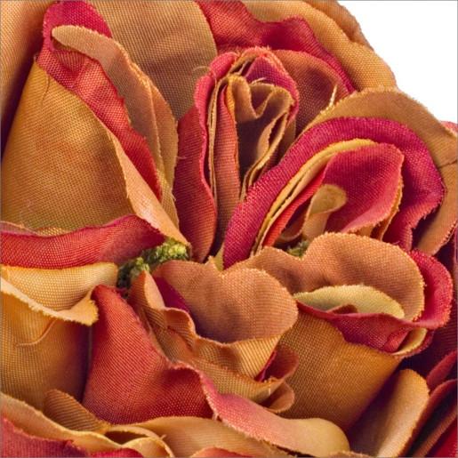 Trandafir englezesc portocaliu artificial 30 h