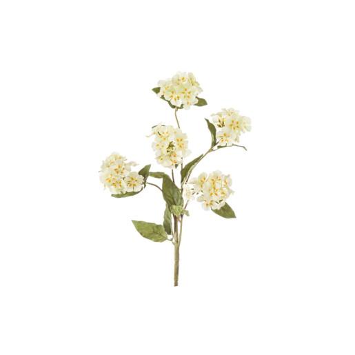 Crenguta cu 5 flori artificiale galbene 33 cm