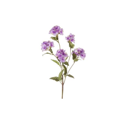 Crenguta cu 5 flori artificiale mov 33 cm
