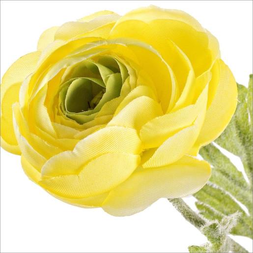 Ranunculus artificial 3 flori galbene 60h