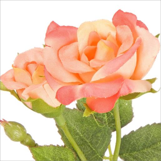 Trandafir artificial 4 flori piersica 39h