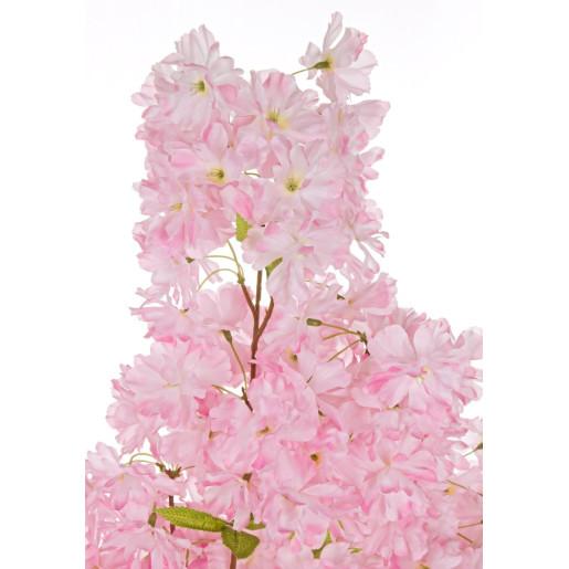 Copac decorativ cu flori artificiale cires roz 70x140h
