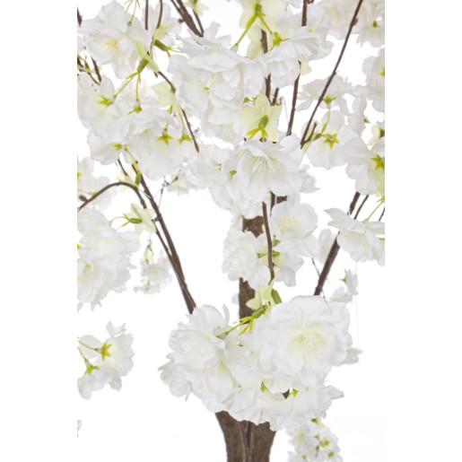 Copac decorativ cu flori artificiale cires alb 80x140h