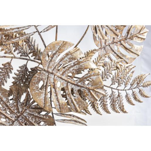 Decoratiune din metal auriu vintage pentru perete Azhira 68 cm x 6 cm x 67h