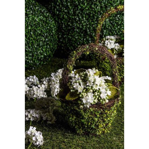 Ghiveci pentru flori verde oval model cos Ø17 cm x 10 cm x 24 h