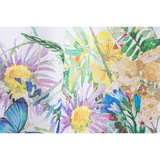 Perdea decorativa textil Flowers 140x280