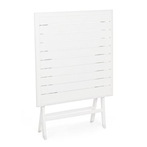 Masa pliabila din aluminiu alb Elin 70 cm x 70 cm x 71 h