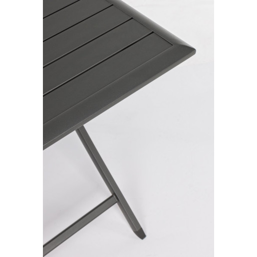 Masa pliabila din aluminium gri antracit Elin 70 cm x 70 cm x 71 h