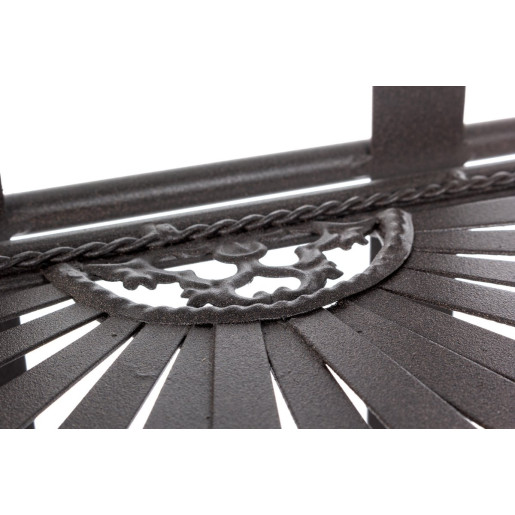 Raft fier forjat maro 3 polite Ray 34 cm x 30 cm x 114 h