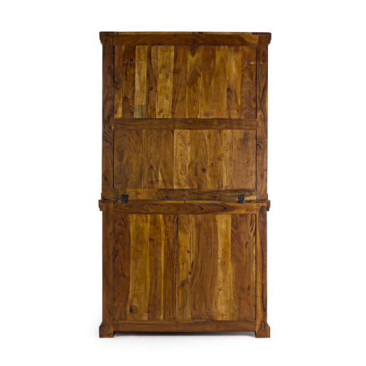 Biblioteca lemn natur Chateaux 107 cm x 45 cm x 190 h