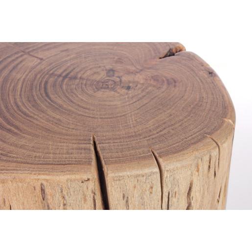 Taburet cu picioare din fier negru si sezut din lemn natur Artur 35 cm x 33 cm x 41 h