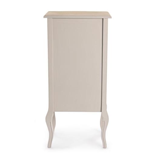 Comoda 5 sertare din lemn bej Clarisse 48 cm x 35 cm x 100 h
