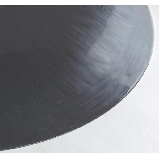 Masuta cafea fier forjat gri inchis auriu Ø50 cm x 52h