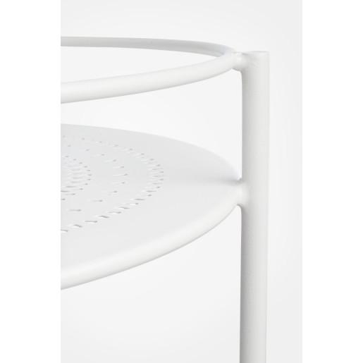 Carucior servire din fier alb Burton Ø 45 cm x 81 h