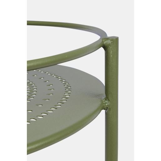 Carucior servire din fier verde Burton Ø 45 cm x 81 h