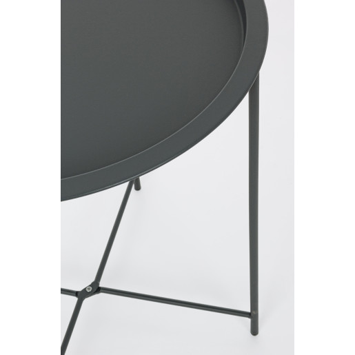 Masuta fier negru Ø 46 cm x 50 h