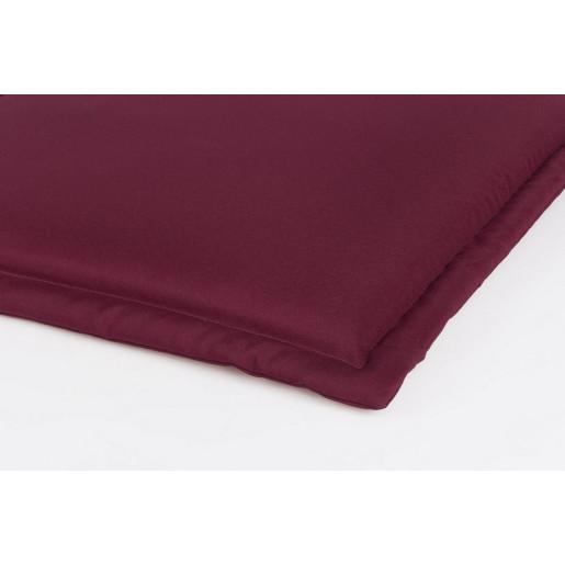 Perna bancuta 3 locuri din textil visiniu Nat 153 cm x 48 cm x 3 h