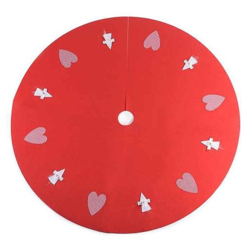 Covoras textil brad Heart Red Ø 100 cm