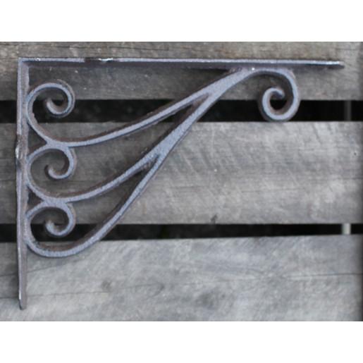 Suport pentru polita fier forjat maro 24x18x4 cm