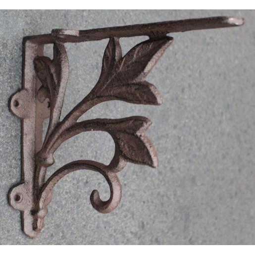 Suport pentru polita fier forjat maro 19x17x5 cm