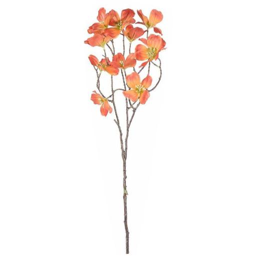 Crenguta artificiala flori cornus portocaliu 73 cm
