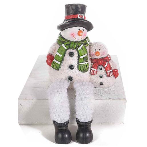 Figurina Om Zapada ceramica cu picioare textil 18 cm