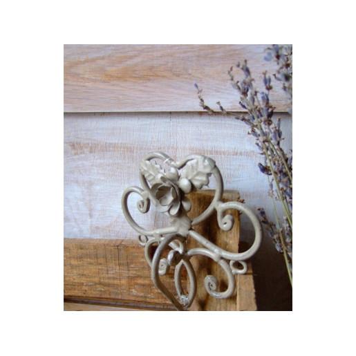 Suport fier forjat maro pentru prosop Roses 27x7x31 cm