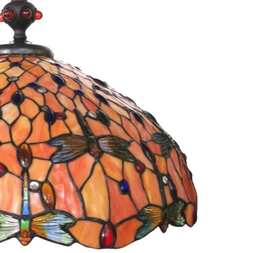 Lustra din fier cu abajur din sticla Tiffany Ø 58 cm