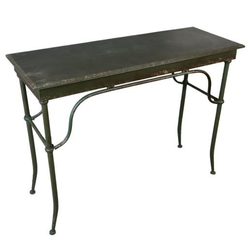 Masa din fier verde antichizat 110 cm x 42 cm x 81 h