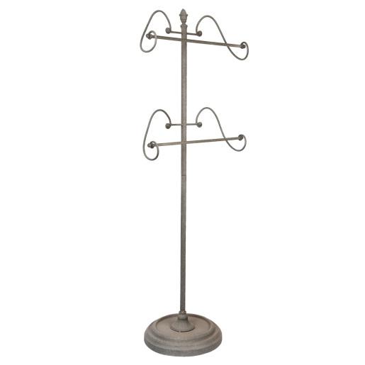 Suport prosoape fier forjat gri 46x30x127 cm