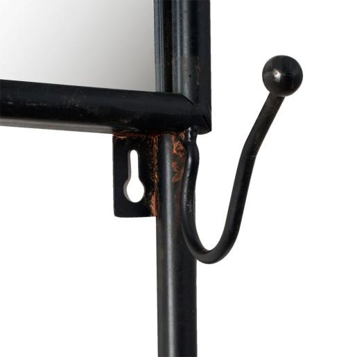 Suport fier forjat suspendabil maro cuiere polita 44x15x112 cm