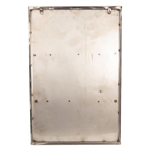 Dulap de perete din fier gri patinat si sticla 49 cm x 19 cm x 75 h