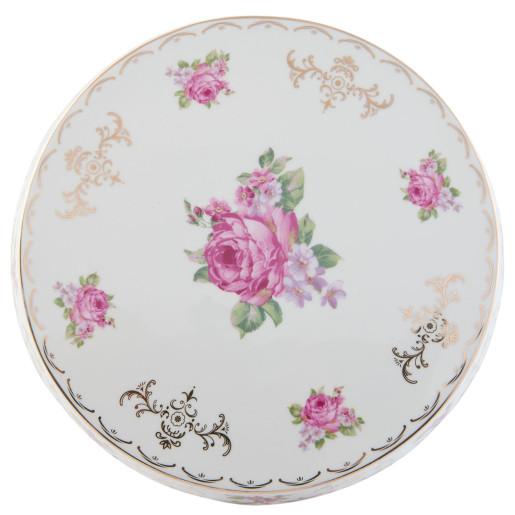 Platou ceramica cu picior Roses Ø 24x11 cm