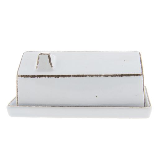 Untiera ceramica alba cu capac tip casuta 18x10x6 cm