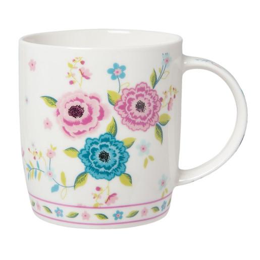 Set 4 cani ceramica  Flowers 12 x 8 x 10 cm - 0,3L
