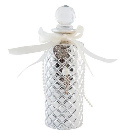 Sticluta decorativa sticla argintie Ø 5*16 cm - 0,15L