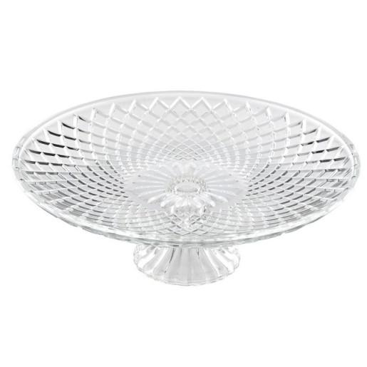 Platou pentru prajituri aperitive sticla Ø 20 cm x 8 cm