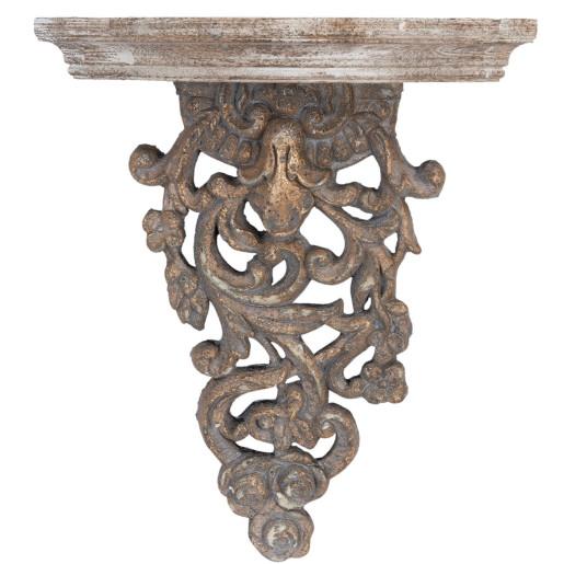Polita lemn antichizat Baroc 42*15*51 cm