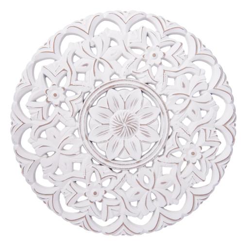 Masuta lemn natur alb antichizat Madrid Ø40 cm x 46 cm