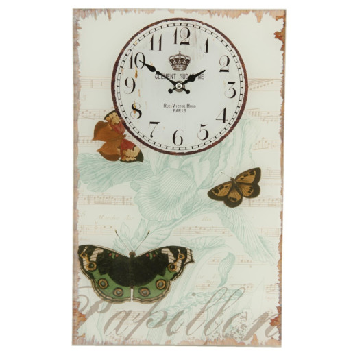 Ceas perete metal Butterfly 25 x 40 cm