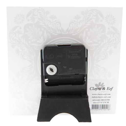 Ceas masa sticla Black White 15x15 cm