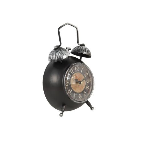 Ceas desteptator de masa metal negru 15 cm x 7 cm x 25 cm