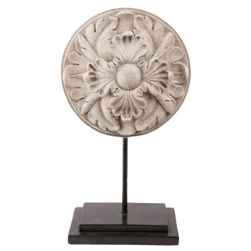 Decoratiune de masa polirasina bej 15 cm x 8 cm x 26 cm