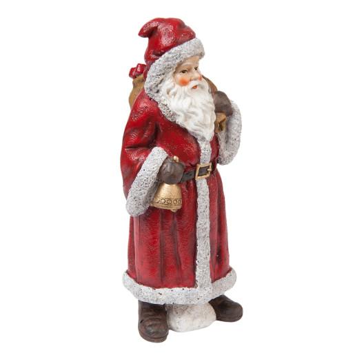 Figurina Mos Craciun polirasina rosu 7x7x18 cm