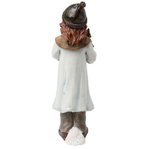 Figurina fetita cu brad polirasina Craciun 7x7x23 cm