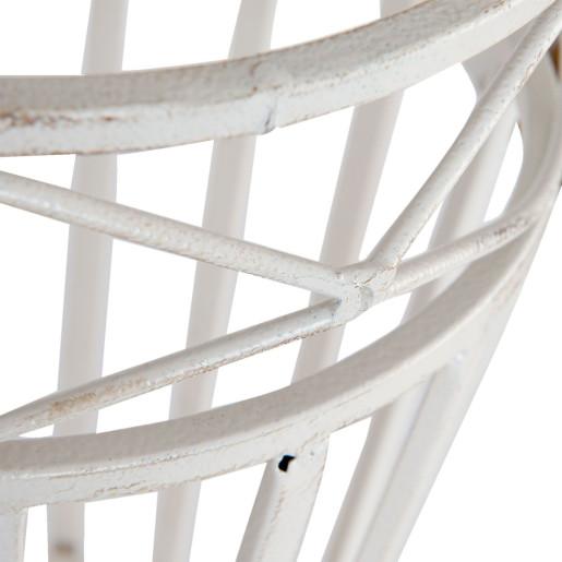 Suport umbrele fier forjat alb 24 cm x 45 cm