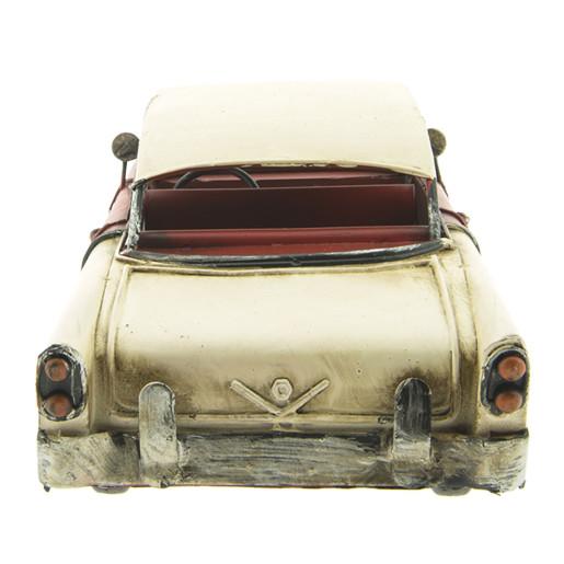 Macheta masina retro metal burgundy 29x11x10 cm