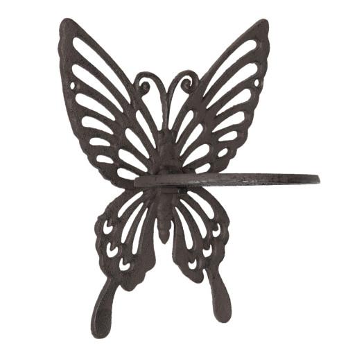 Suport fier forjat maro pentru prosop Butterfly 18x15x23 cm