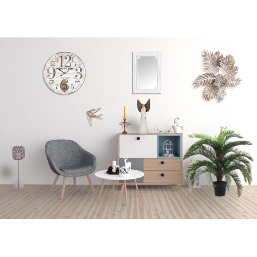 Decoratiune suspendabila pentru perete polirasina auriu vintage Pasare 29 cm x 5 cm x 28 cm