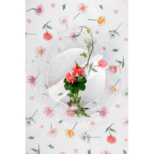 Fata de masa bumbac Flowers 150 cm x 250 cm